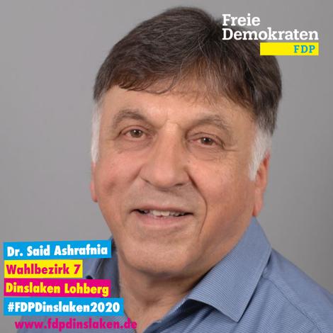 Dr. Said Ashrafnia (FDP) will eure Stimme für Lohberg sein – hier der Kandidaten-Check