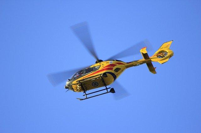 Rettung per Hubschrauber und Schleifkorb